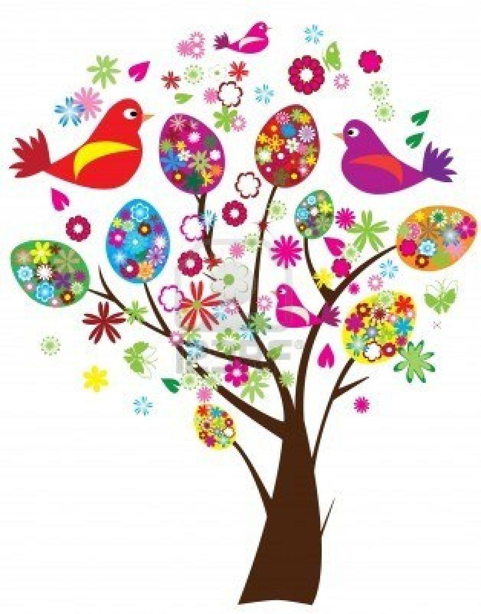 9183485 arbre de paques avec les oeufs florales et oiseaux de vecteurs. Black Bedroom Furniture Sets. Home Design Ideas